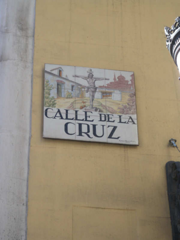 Placa calle de la Cruz Madrid