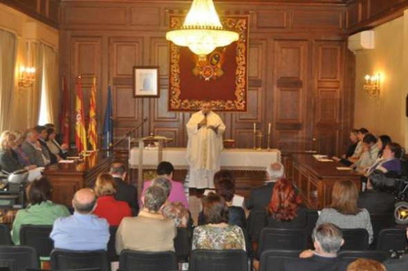 Teruel misa santa Rita ayuntamiento