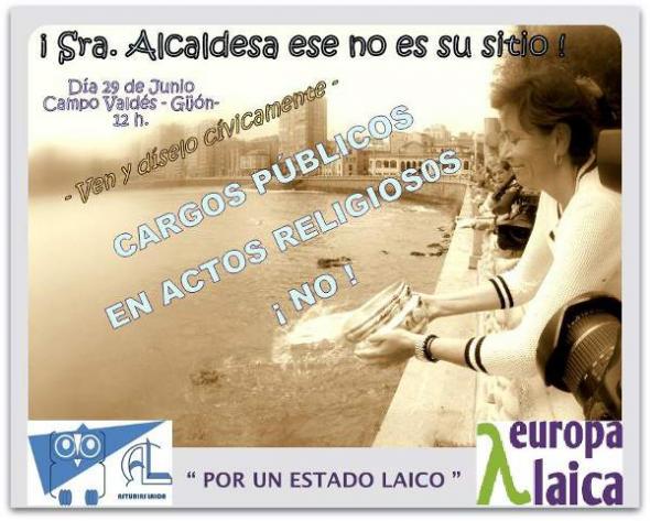Cartel acto Gijón 2013 Asturias Laica