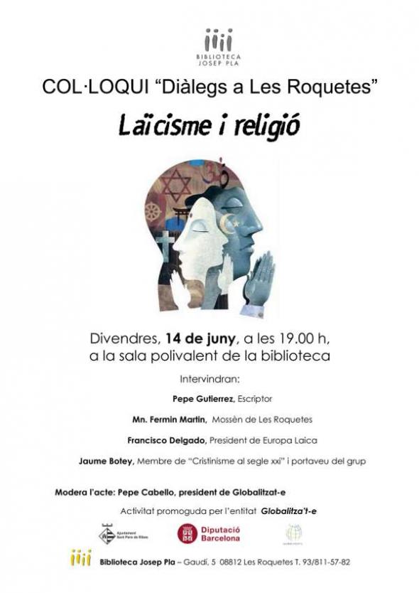 Cartel Laicismo y religion B2013