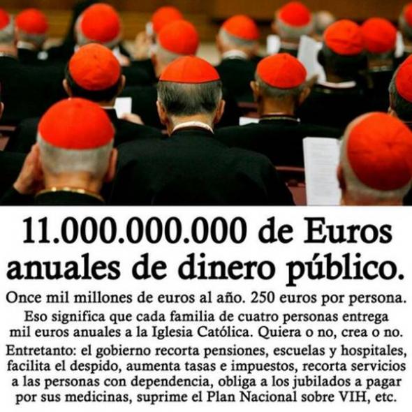 Financiación iglesia 2013