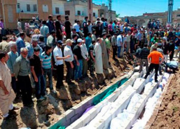 entierro chiies asesinados Siria 2013