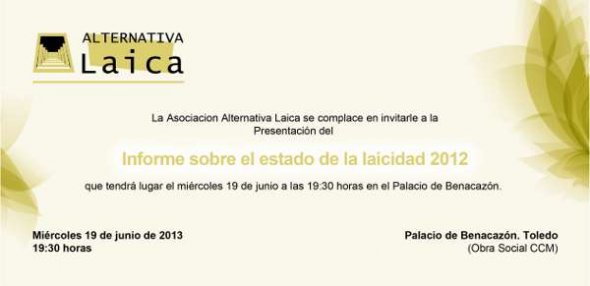 Alternativa Laica invitación