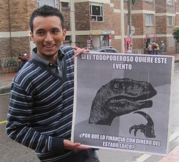 Protesta Bogotá Gospel subvencionado
