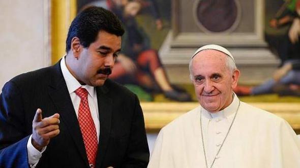 Bergoglio y Maduro presidente Venezuela 2013