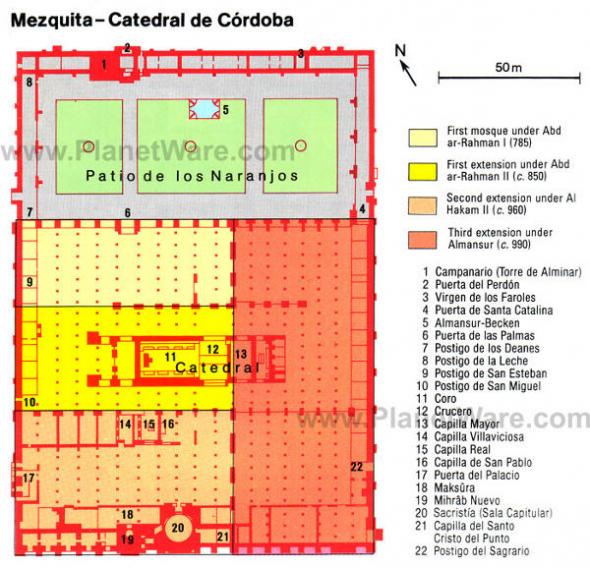 Plano mezquita Córdoba