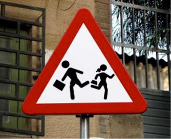 señal escuela segregadora