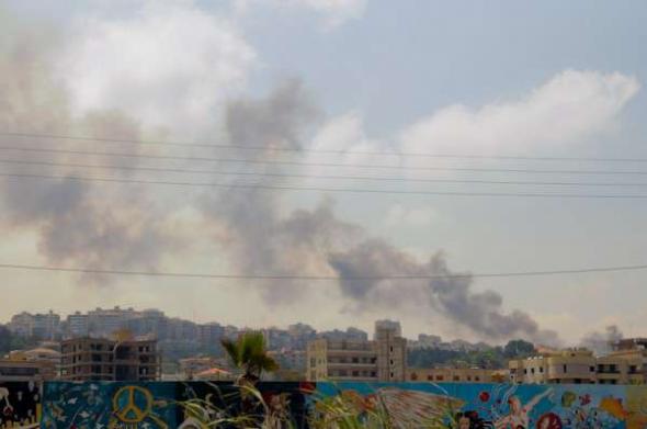 Conflicto Líbano 2013 humo