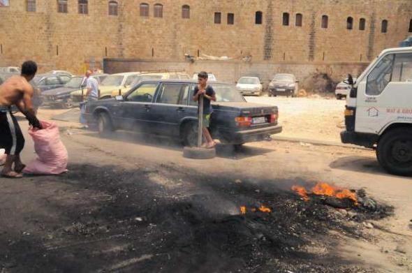 Conflicto Líbano 2013 fuego