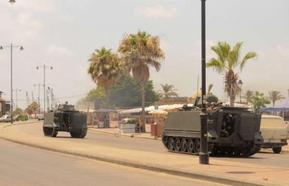 Conflicto Líbano 2013 tanques