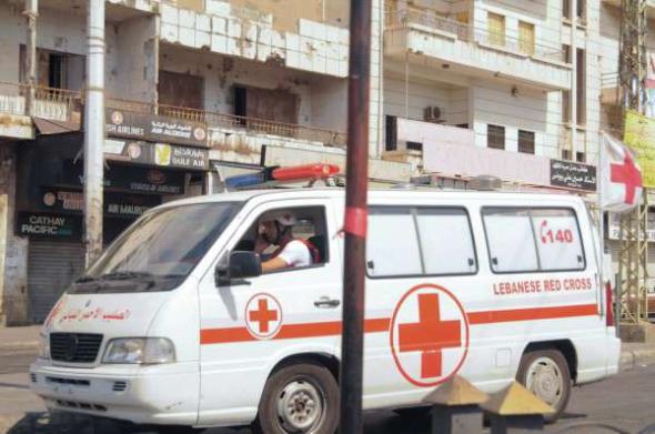 Conflicto Líbano 2013 ambulancia