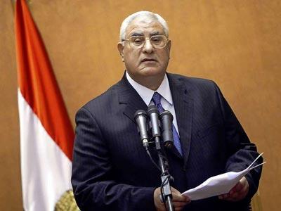 Adli Mansur presidente interino Egipto 2013