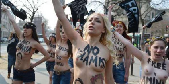 Feministas Femen París 2013