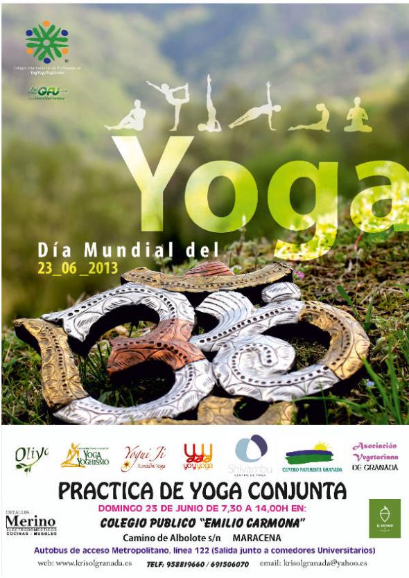 Cartel yoga Maracena 2013