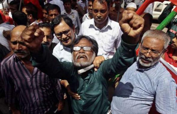 protestas en Bangadesh 2013