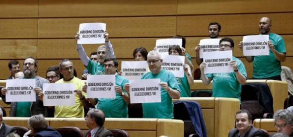 carteles diputados contra LOMCE