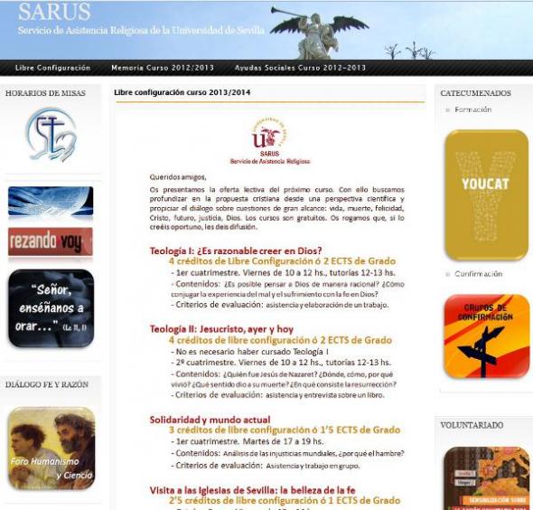 cursos confesionales Universidad Sevilla
