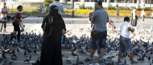 mujer niqab Barcelona