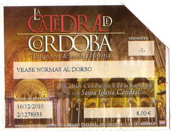 entrada Mezquita Córdoba