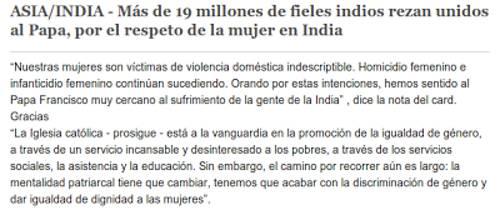 titular rezar contra violencia mujer