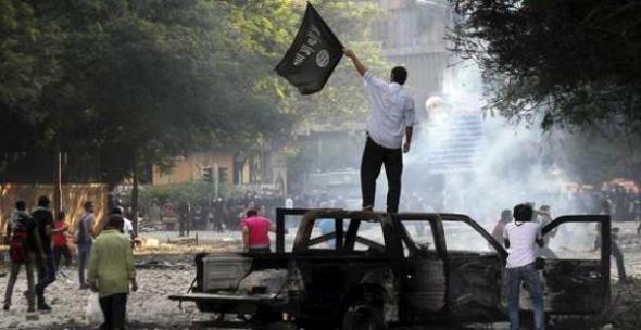 Protesta embajada USA Egipto 2013