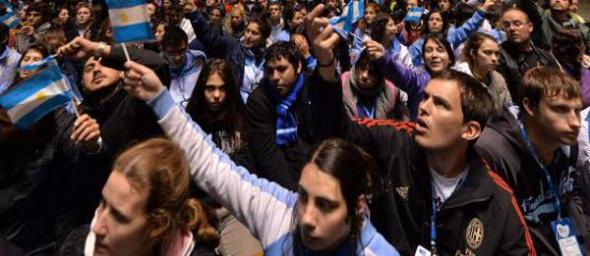 seguidores argentinos de Bergoglio Brasil 2013