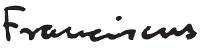 firma Francisco papa