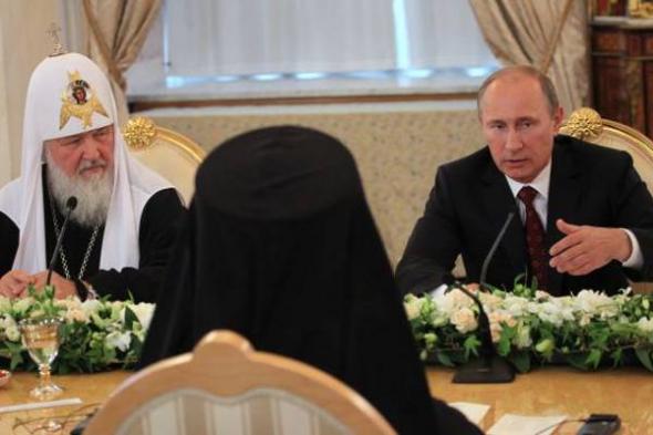 Putin y el patriarca Kirill Rusia 2013