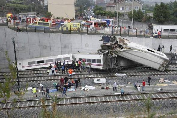 accidente ferroviario Santiago