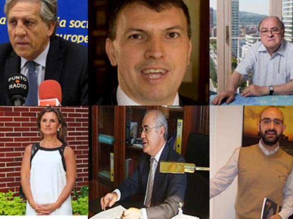 Los juristas Diego López Garrido, Joaquim Bosch, Jose Antonio González Casanova, Silvia Tamayo, Pablo Llarena y Abraham Barrero