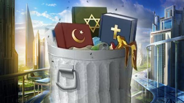 religiones cubo basura