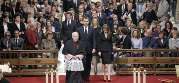 autoridades funeral catedral Santiago 2013