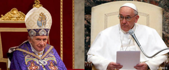 Bergoglio y Ratzinger