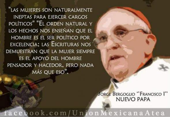 Bergoglio y mujer