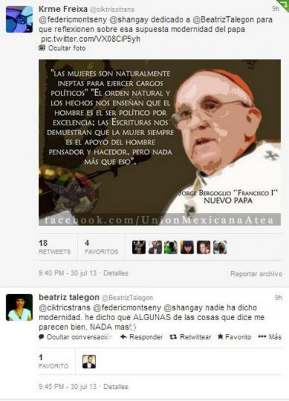 Bergoglio y mujer 3