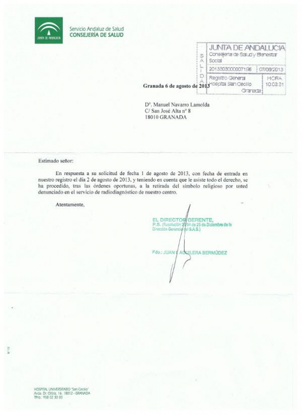 Crucifijo Clinico GR 2013 Respuesta SAS