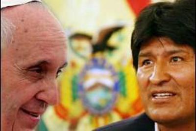 Evo Morales y Bergoglio