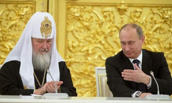 Putin y patriarca ortodoxo Kirill