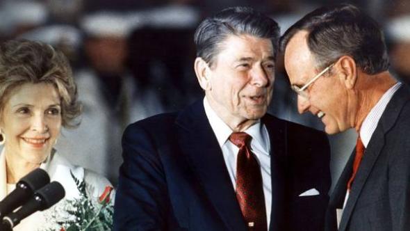 Reagan y Bush