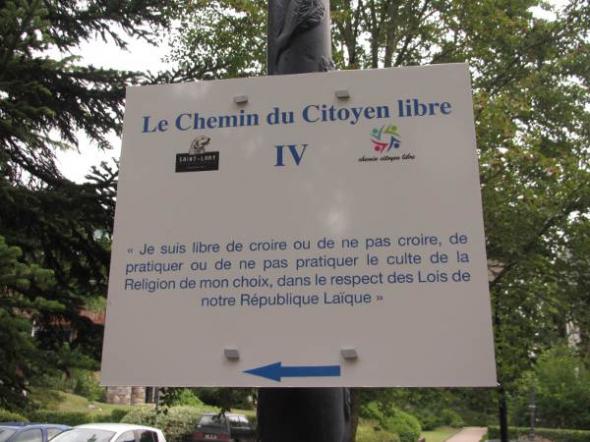 cartel laicidad parque Francia1