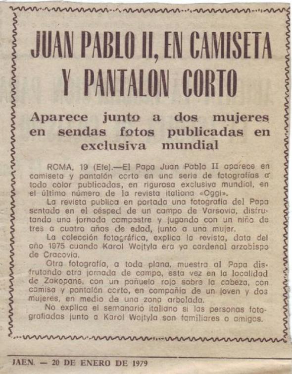Juan Pablo II Hemeroteca