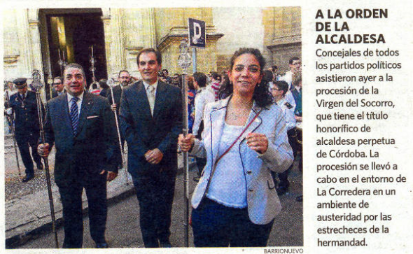 todos con la alcaldesa perpetua de Córdoba