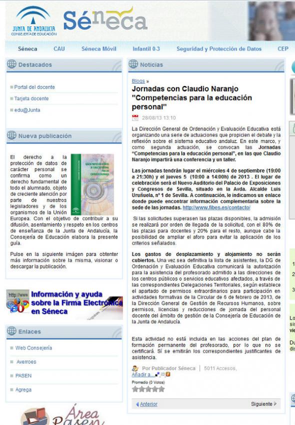 junta andalucia educacion seneca: