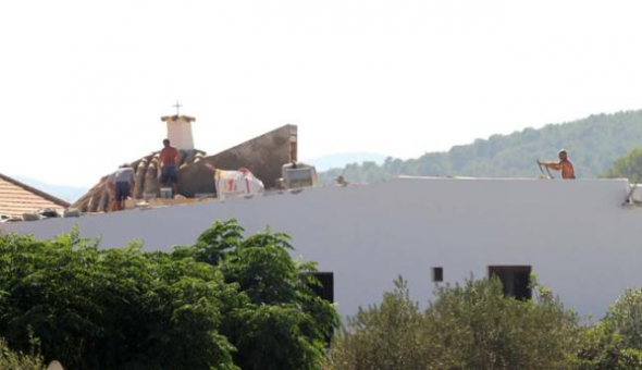 obras iglesia Sant Joan Ibiza