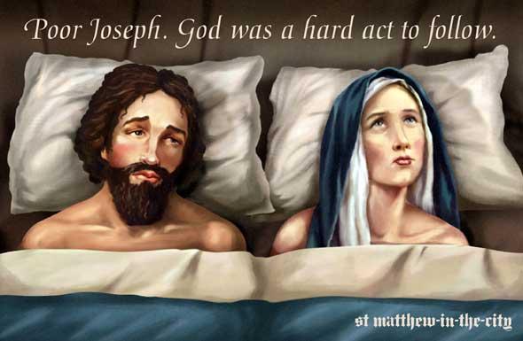 Jose y Maria en la cama