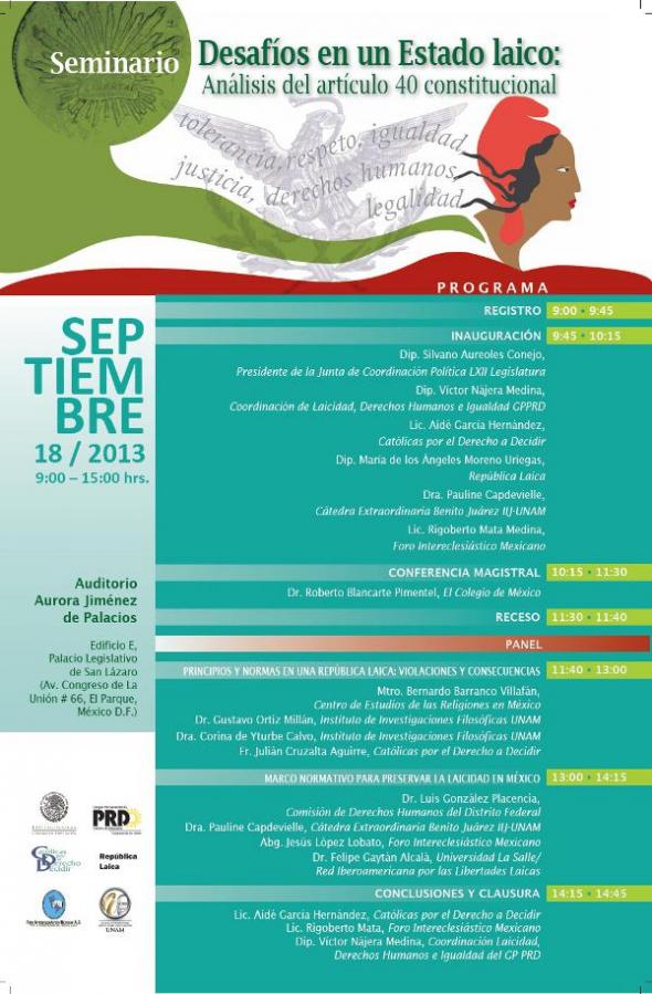 cartel seminario México 2013