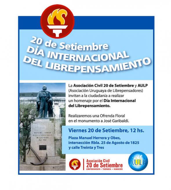 Cartel Día Librepensamiento Uruguay 2013