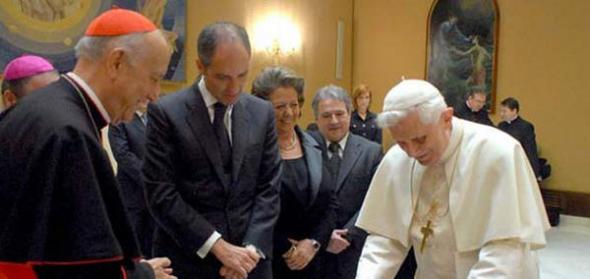 Ratzinger y Camps en Valencia 2006