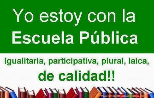 Escuela pública y laica