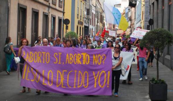 mani aborto Tenerife 2013